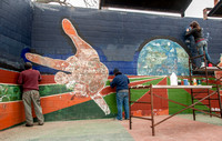 "Restoration of 'Hillside Miracle"" mural by Raul Valdez"
